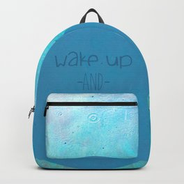 wake up and smell the rain Backpack