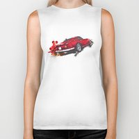 ferrari Biker Tanks featuring Ferrari 275 by Claeys Jelle Automotive Artwork