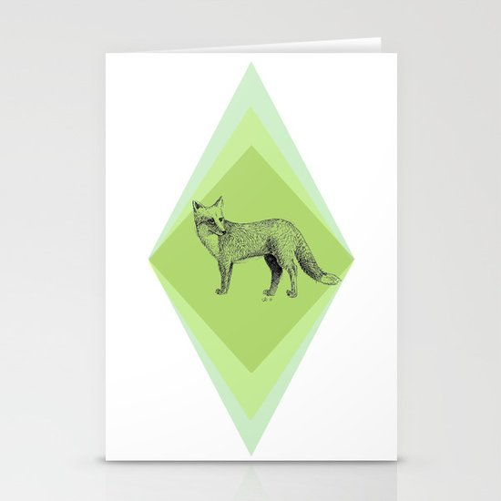 fox in forest Stationery Cards