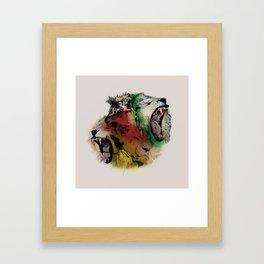 Lion Structure Framed Art Print