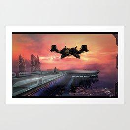 Landing Station Art Print