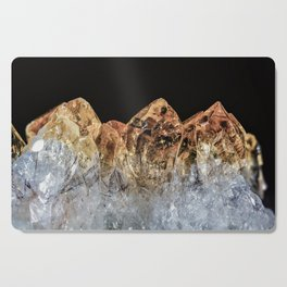 Fire and Ice Citrine crystals Cutting Board