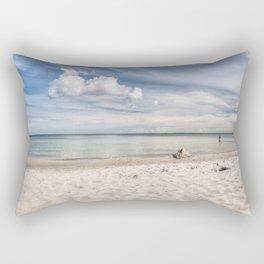 Dream beach Sea Ocean Summer Maritime Navy clouds Rectangular Pillow