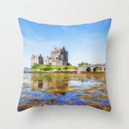 Eilean Donan in Summer Throw Pillow