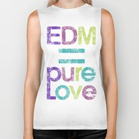 edm Biker Tanks featuring EDM = Pure Love by DropBass