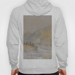 """J.M.W. Turner """"Foul by God - River Landscape with Anglers Fishing From a Weir"""" Hoody"""