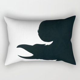 the dark Raven Rectangular Pillow