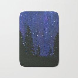 Twinkle, Twinkle, Stars Night Sky Painting Bath Mat