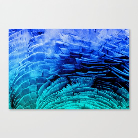 RUFFLED BLUE Canvas Print