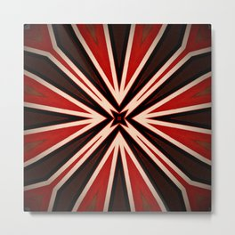 Bold Red Black Star pattern Metal Print