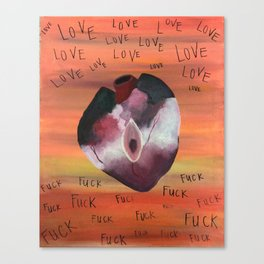 Fuck Love Canvas Print