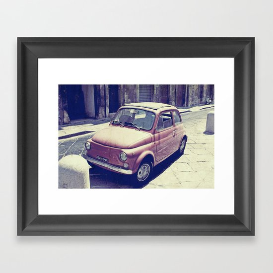 Fiat 500 - Italia Car Framed Art Print