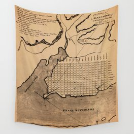 Map of Alexandria 1798 Wall Tapestry