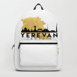 YEREVAN ARMENIA SILHOUETTE SKYLINE MAP ART Backpack