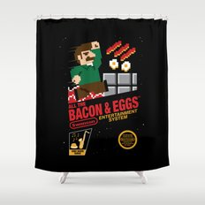 All the Bacon and Eggs Shower Curtain
