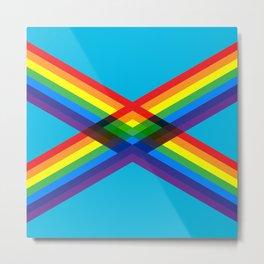 crossing rainbows Metal Print