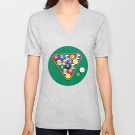 Billiard Balls Rack - Boules de billard Unisex V-Neck