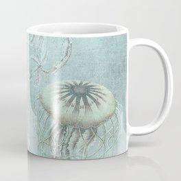 Jellyfish Underwater Aqua Turquoise Art Coffee Mug
