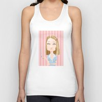 the royal tenenbaums Tank Tops featuring Margot Tenenbaum The Royal Tenenbaums by suPmön