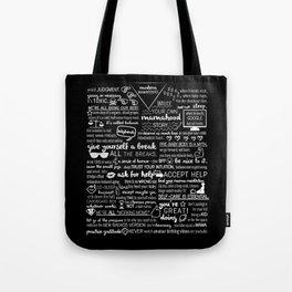modern mamafesto: black Tote Bag