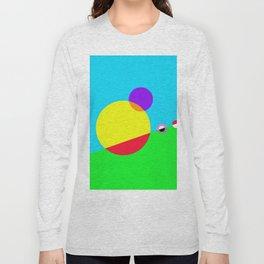 Circles #1 Abstract Modern Painting by Bruce Gray Long Sleeve T-shirt