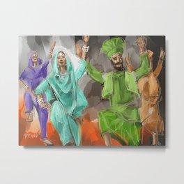 Bhangra Group Metal Print
