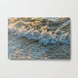 sunset foam Metal Print