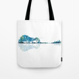 Nature Guitar - Watercolor Blues Tote Bag