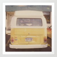 vw bus Art Prints featuring VW Bus by Kristine Ridley