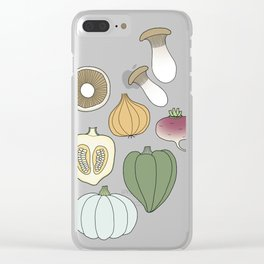 Vegetables (color) Clear iPhone Case