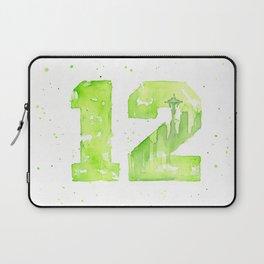12th Man Seattle Art Laptop Sleeve