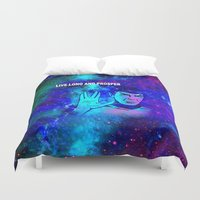 spock Duvet Covers featuring SPOCK by Saundra Myles