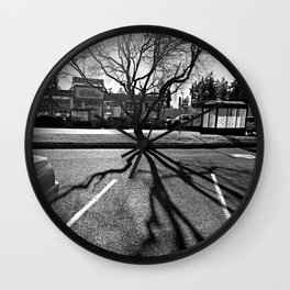 Shadow Tree - Pacific Northwest Wall Clock