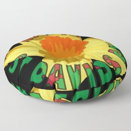 Happy St Davids Day Showy Spring Daffodil Floor Pillow