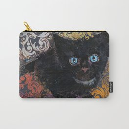 Little Black Kitten Carry-All Pouch