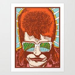 Rad Bowie Art Print