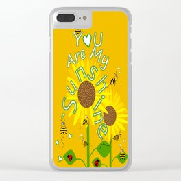 Sunshine And Sunflowers Clear iPhone Case