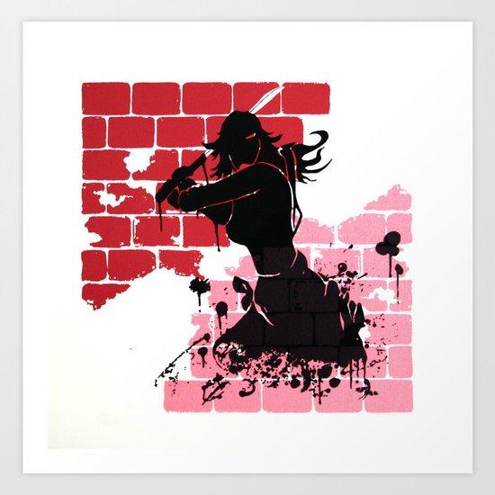Woman Warrior Art Print