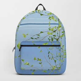 Birch on blue Backpack