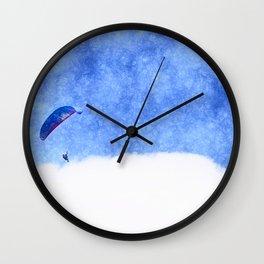 Landing on cloud nine Wall Clock