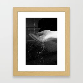 Loving hands  Framed Art Print