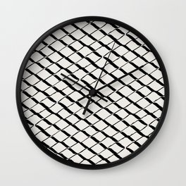 Modern Diamond Lattice 2 Black on Light Gray Wall Clock