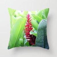brasil Throw Pillows featuring Brasil by Rafael Baumer