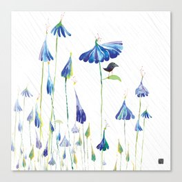 BLUE IS THE RAINIEST COLOR Canvas Print