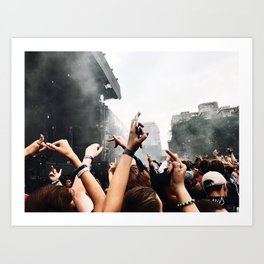 MIDDLE FINGERS IN THE AIR Art Print