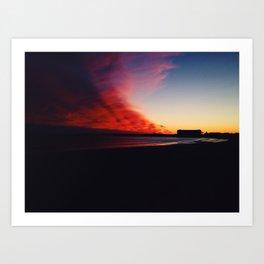 A Maine Winter Sunset Art Print