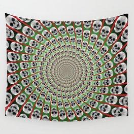 Skull Spiral Wall Tapestry