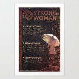 A strong woman Art Print