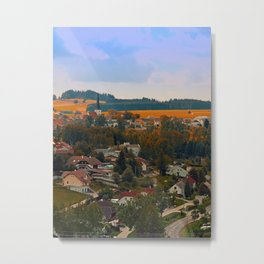 Beautiful village skyline | landscape photography Metal Print