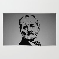 bill murray Area & Throw Rugs featuring Bill Murray by Spyck